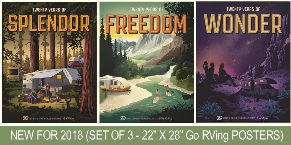 Go RVing's 20 Years of Success Posters